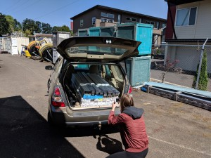 The Subaru moving vehicle. 7 Subarus full of u-channels so far, only a few more to go!