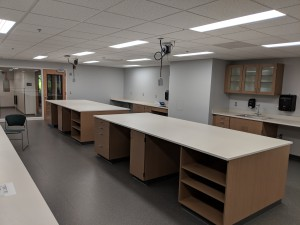 A sneak peak of the new, very clean core sampling lab.